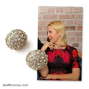 Lia Sophia Souffle stud pave earrings